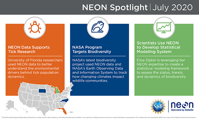Battelle's July update for our NEON work